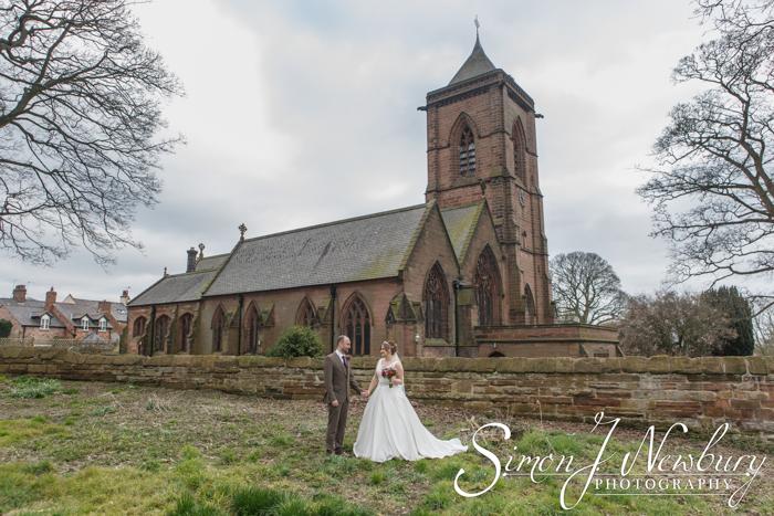 Wedding Photography: St Helen's Church Tarporley Cheshire - Jenny and John. Tarporley wedding photographer. Cheshire wedding photography in Tarporley