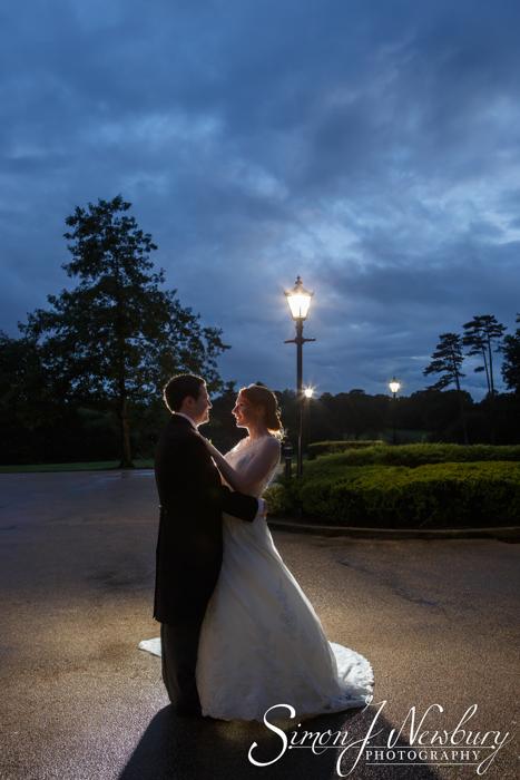 rookcery hall night lit up wedding photography