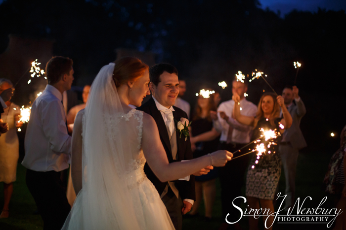 Sparklers rookery hall wedding photography