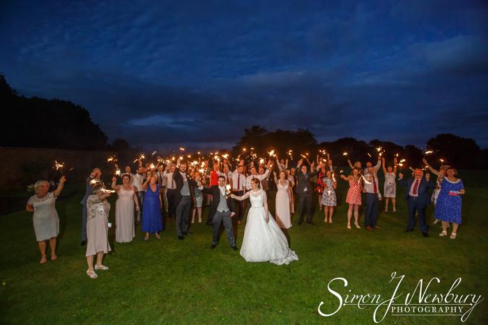 Sparklers nantwich wedding photography