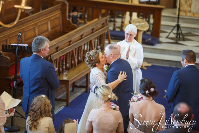 first kiss shropshire wedding photography