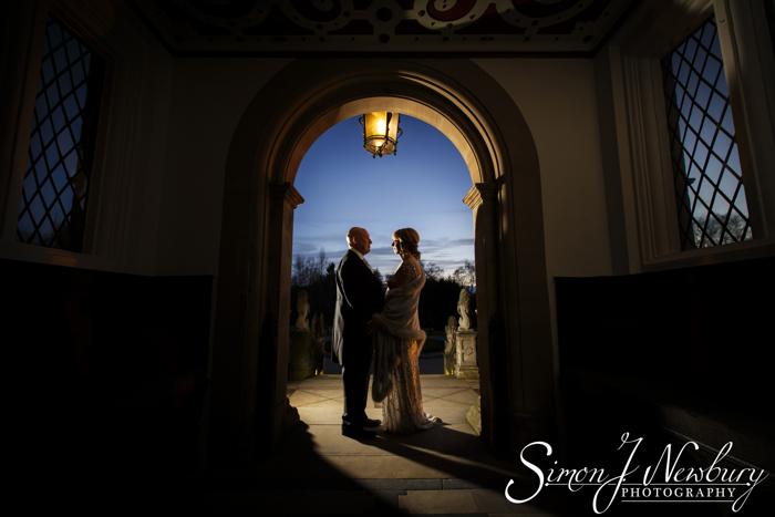 Crewe Hall night Wedding Photography