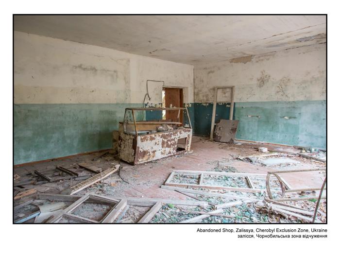 Abandoned Shop, Zalissya, Cherobyl Exclusion Zone, Ukraine