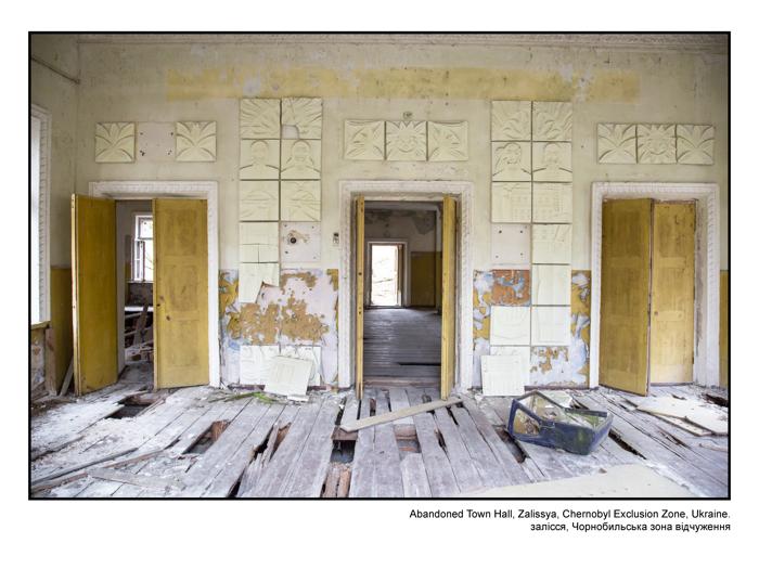 Abandoned Town Hall, Zalissya, Chernobyl Exclusion Zone, Ukraine