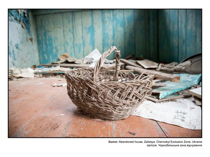 Basket. Abandoned house, Zalissya, Chernobyl Exclusion Zone, Ukraine