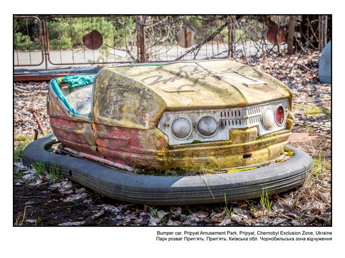 Bumper car. Pripyat Amusement Park, Pripyat, Chernobyl Exclusion Zone, Ukraine