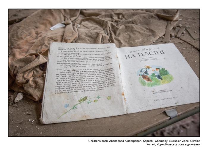 Childrens book. Abandonned Kindergarten, Kopachi, Chernobyl Exclusion Zone, Ukraine