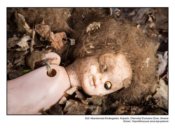 Doll. Abandonned Kindergarten, Kopachi, Chernobyl Exclusion Zone, Ukraine